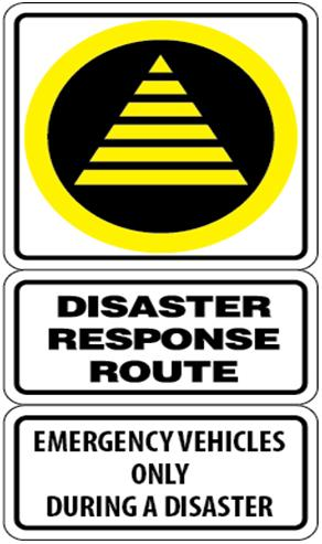 Disaster Response Route Sign